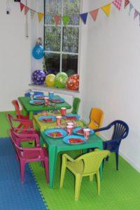 LIMADA Kindergeburtstag - typische Geburtstagstafel